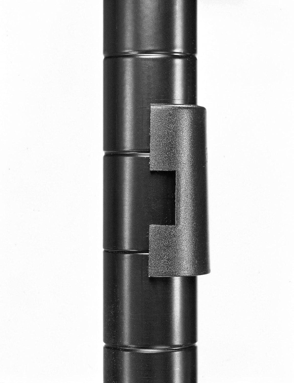 Whitmor 6070-322 Supreme 4-Tier Shelving Unit Black
