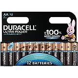 Duracell Ultra Power Batterie Alcaline, Stilo AA, pacco del 12