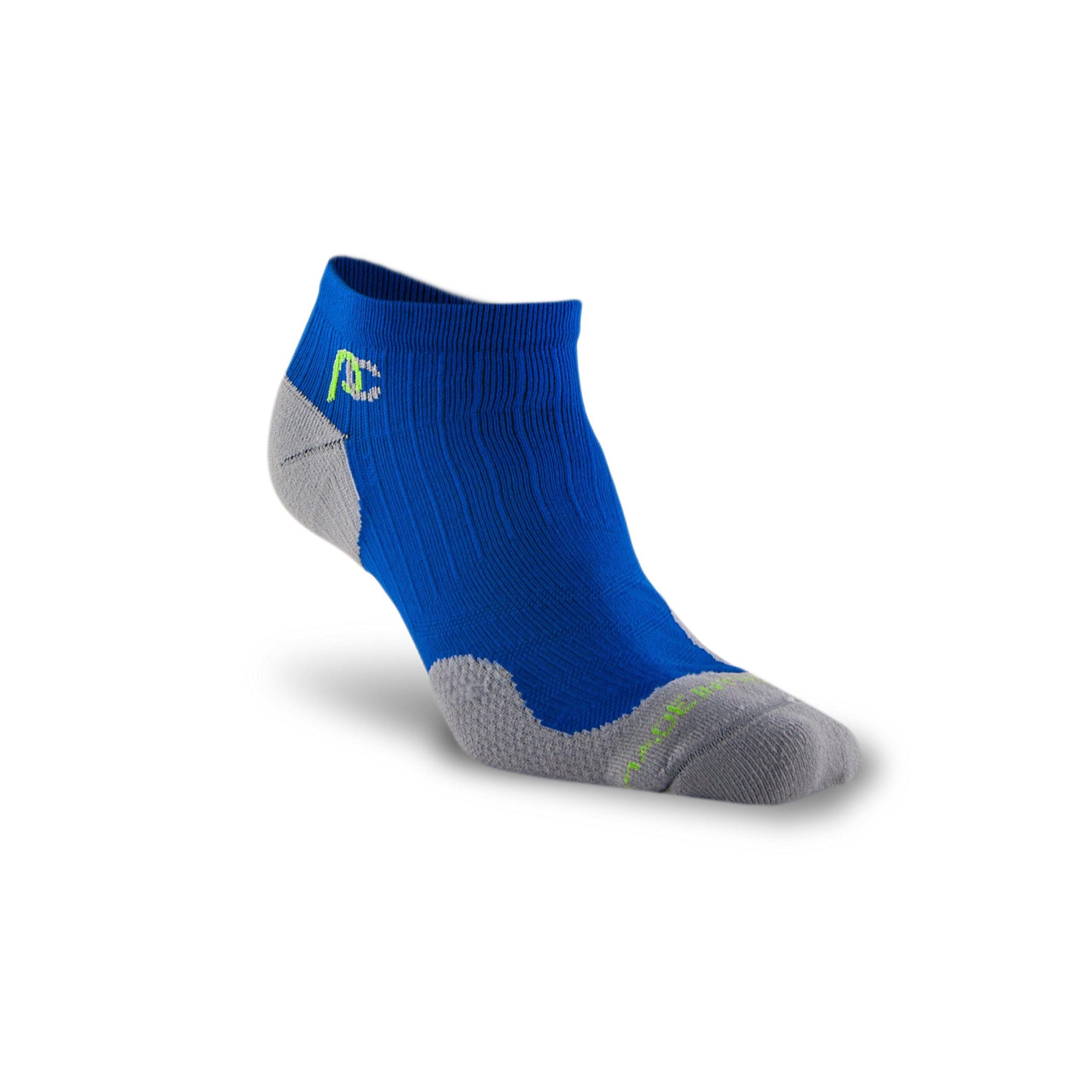 PRO Compression: Trainer (Low-Profile) Compression Socks, Royal Blue, 2 Pairs, Large/X-Large