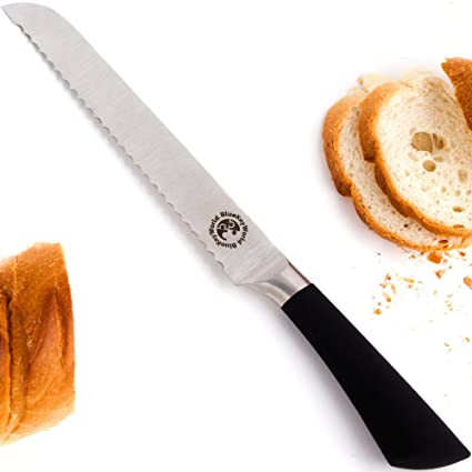 Ultra Sharp Bread Knife. Well Balanced Kitchen Knives. Rust Free 8 Inch  Serrated