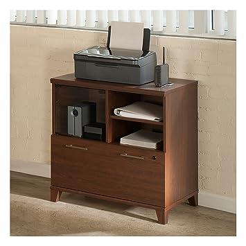 Merveilleux Amazon.com: Bush Furniture Achieve Printer Stand File Cabinet In Sweet  Cherry: Kitchen U0026 Dining