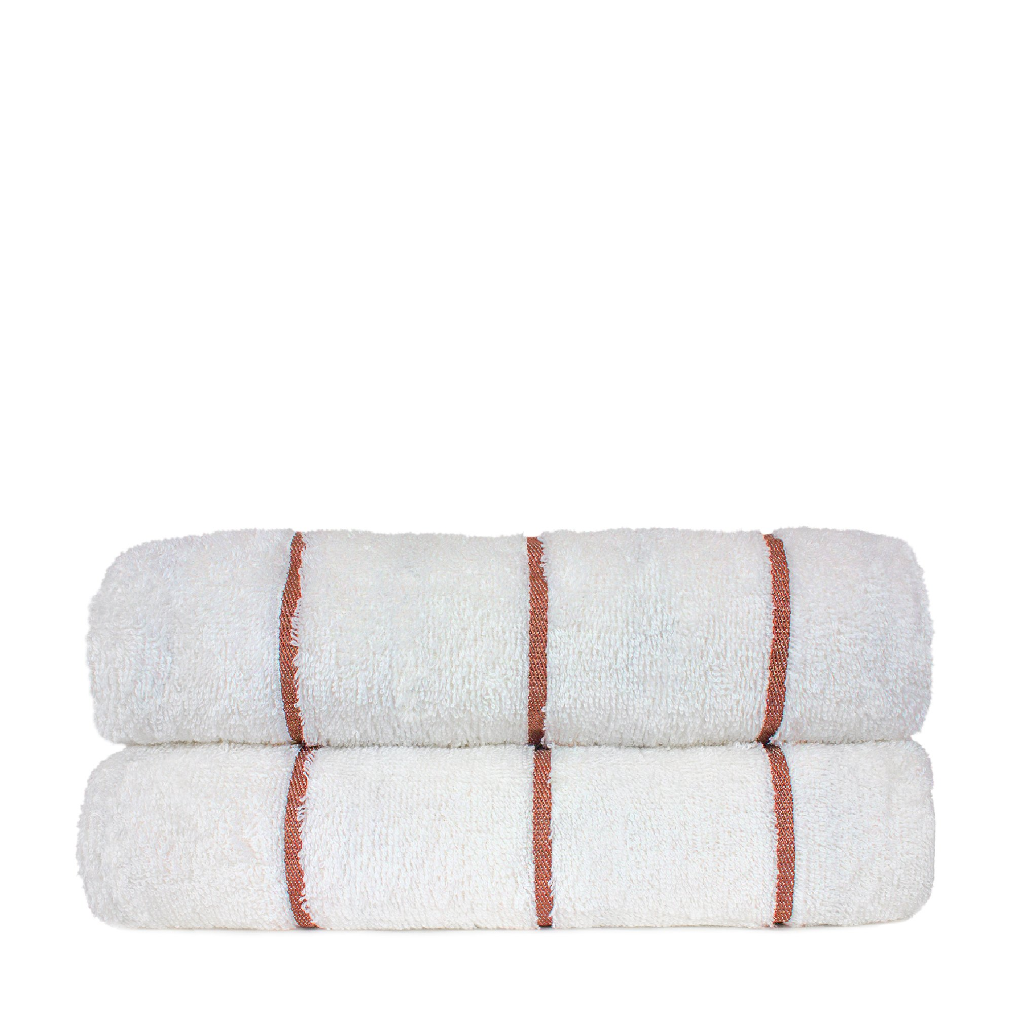 Luxury Hotel Towel Turkish Cotton Extra Large Pool-Beach Towel Set (Set of 2, Brick Red) by Chakir Turkish Linens