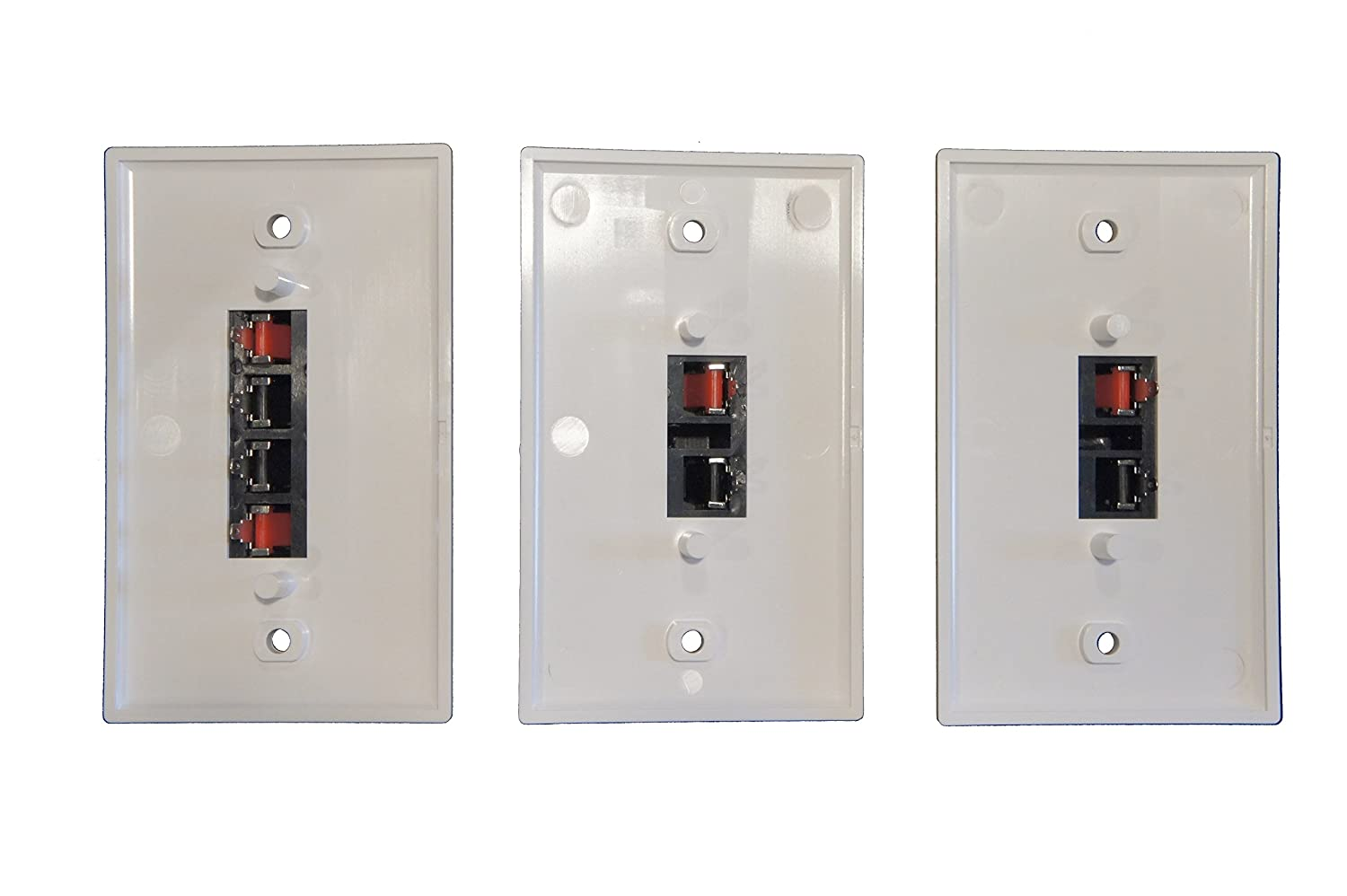 Amazon.com: Combo Pack Speaker Terminal Wall Plates Spring Clip for ...