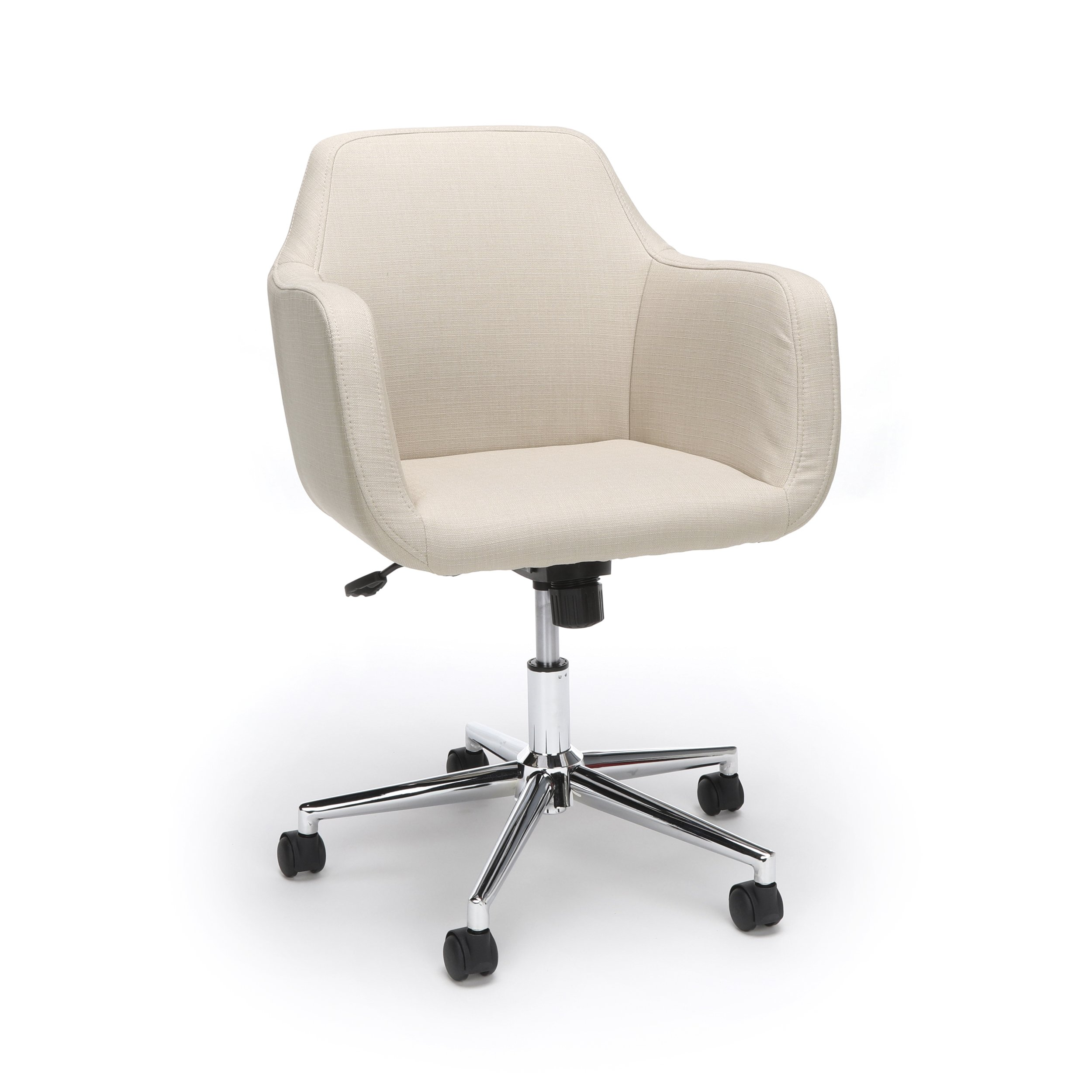 Essentials Upholstered Home Office Chair - Ergonomic Desk Chair with Arms for Conference Room or Office, Tan (ESS-2085-TAN)
