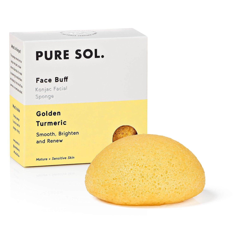 Amazon.com: pureSOL Konjac Sponge - Turmeric - Facial Sponge, 100% Natural  Sponge, Eco-Friendly - Gentle Exfoliation, Deep Cleansing, Improved Skin  Texture: Beauty