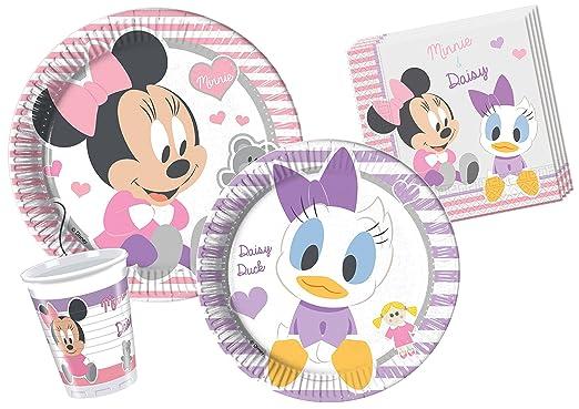 147 opinioni per Ciao Y4214- Kit Tavola Baby Minnie & Daisy per 8 persone (44 pezzi: 8 piatti