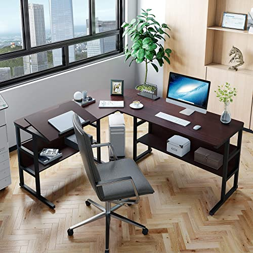 YITAHOME Tiltable Modern L-Shaped Computer Desk - the best home office desk for the money