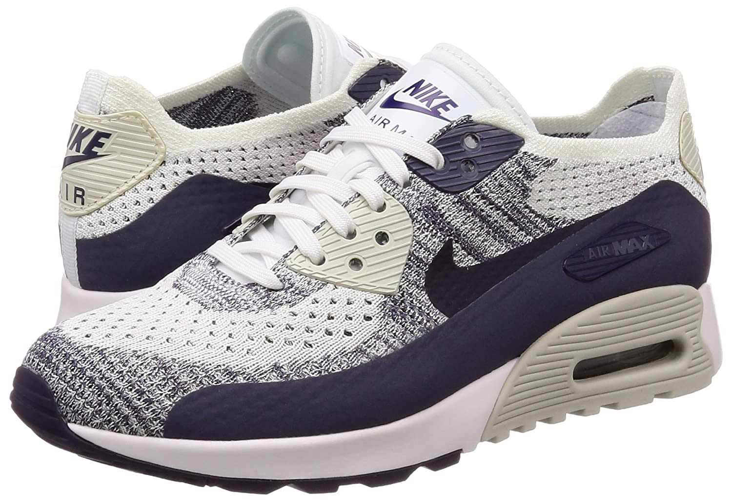 buy popular d64c0 a8ad3 Amazon.com   Nike Womens Air Max 90 Ultra 2.0 Flyknit Running Trainers  881109 Sneakers Shoes (UK 4 US 6.5 EU 37.5, White Dark Raisin 102)    Fashion Sneakers