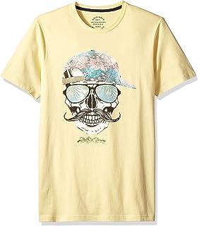 05cd930b9b6742 JACK & JONES Herren T-Shirt Count Tee Crew Neck Skull Totenkopf Schädel  Print