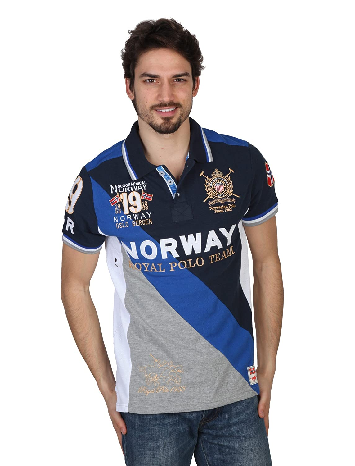 GEOGRAPHICAL NORWAY Polo hombre Korway azul - hombre - XXL: Amazon ...