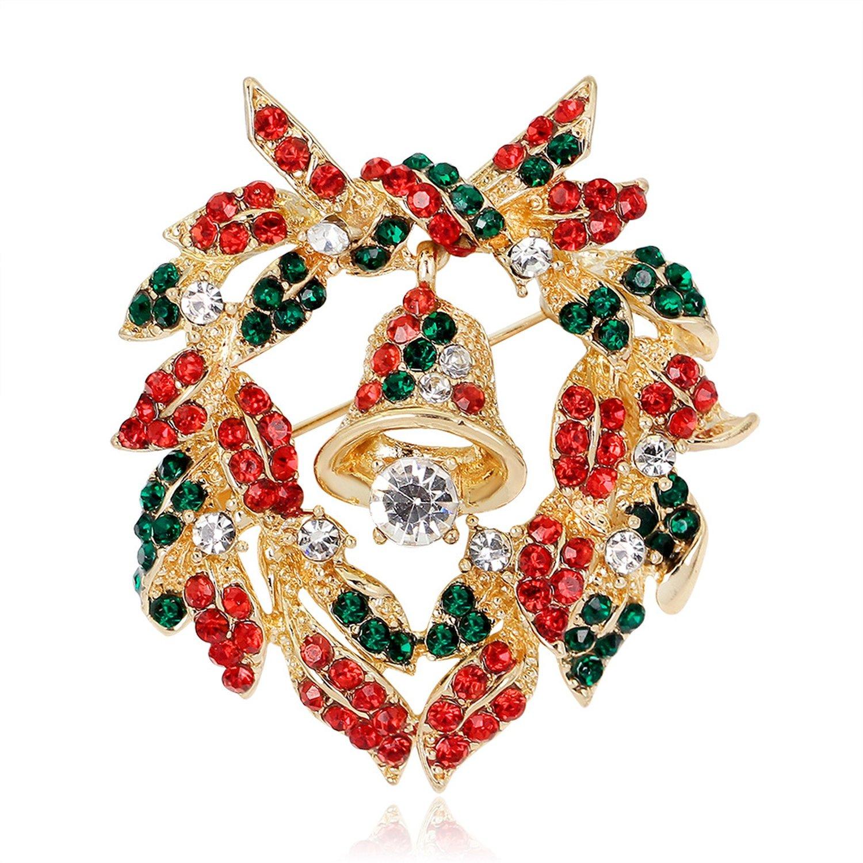 Christmas brooch Christmas tree collar boots snowman sleigh bells penguin corsage Christmas series,AL056-A