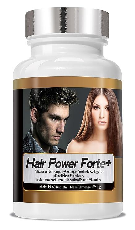 Hairpower Forte + 60 cápsulas de celulosa altamente concentrada pelo vitaminas y nutrientes del cabello ...
