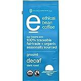 Ethical Bean Fairtrade Organic Coffee, Decaf Dark Roast, Ground Coffee Beans - 100% Arabica Coffee (8 oz Bag), 0.5 Pound (Pac