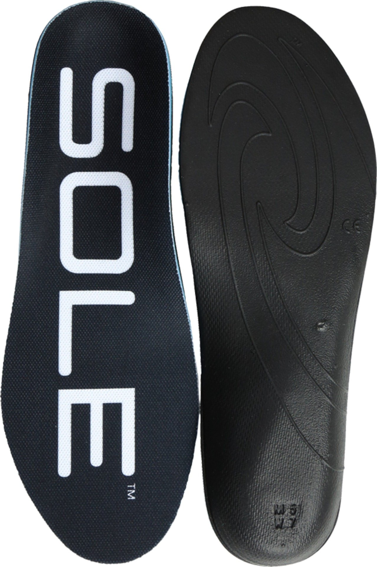SOLE Active Thick Shoe Insoles, Black, 3 US/Women's 5 M US