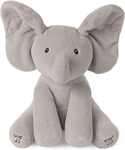 Elephant Baby Plush Toy Sing Song and Play Peek-a-boo Soft Stuffed Animated Doll
