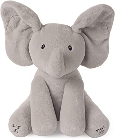 elefante peluche che muove le orecchie