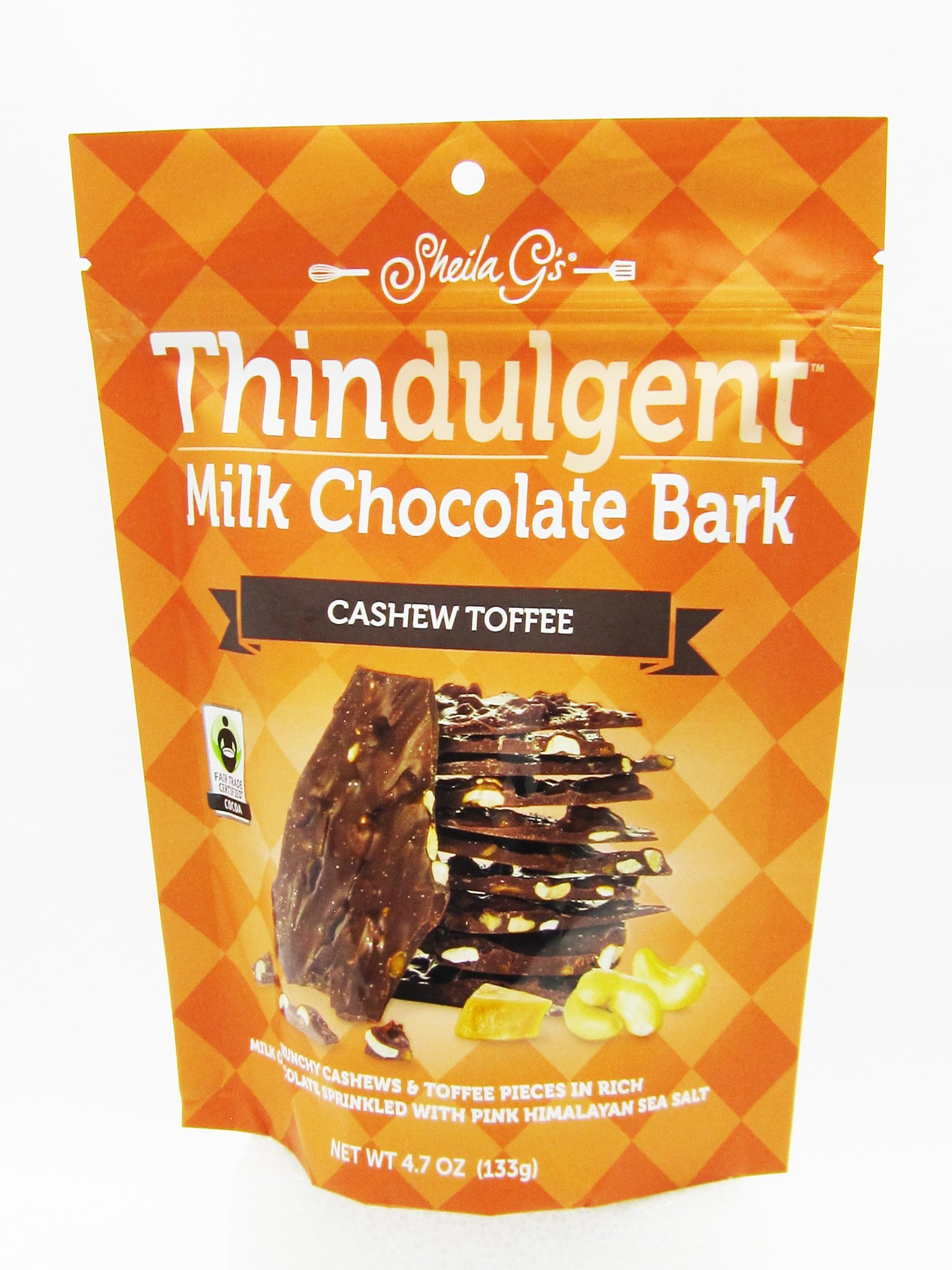 Sheila G's Thindulgent Mix, Cashew Toffee, 8 Count (Pack of 8)