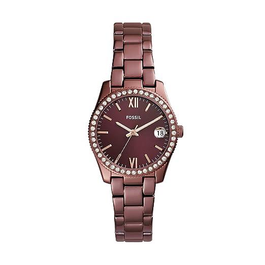 Fossil Reloj Analogico para Mujer de Cuarzo con Correa en Acero Inoxidable ES4320: Amazon.es: Relojes
