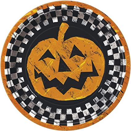 Checkered Halloween Dinner Plates 8ct  sc 1 st  Amazon.com & Amazon.com | Checkered Halloween Dinner Plates 8ct: Dinner Plates