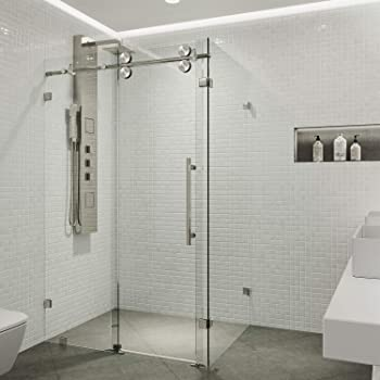 Vigo Frameless Corner Bypass Shower Enclosure