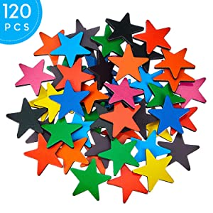 120 Pieces Star Magnets Star-Shaped Colored Magnets Colorful Star Fridge Magnets for Refrigerator Furniture Whiteboard Decoration