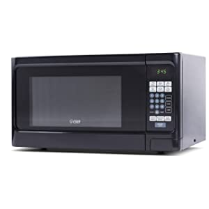 Countertop 1.1 Cubic Feet Microwave Oven, 1000 Watt, Stainless Steel Front with Black Cabinet, Commercial Chef CHCM11100B