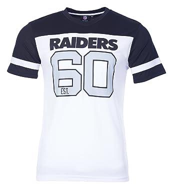 Majestic T-Shirt – NFL Oakland Raiders Polyester V-Neck Black White Size 1f45b934a