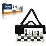 Amazon hey play do it yourself regulation size corn hole wood expressions deluxe tournament chess set with canvas bag and triple weighted chessmen solutioingenieria Images