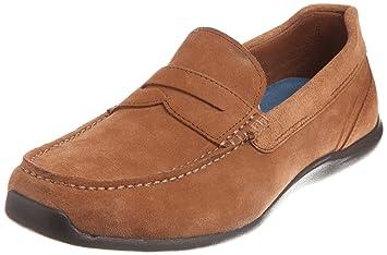 Rockport DRIVESPORTS PENNY Mocasin Zapatos Cuero Gamuza Marron para Hombre Adiprene by Adidas: Amazon.es: Deportes y aire libre