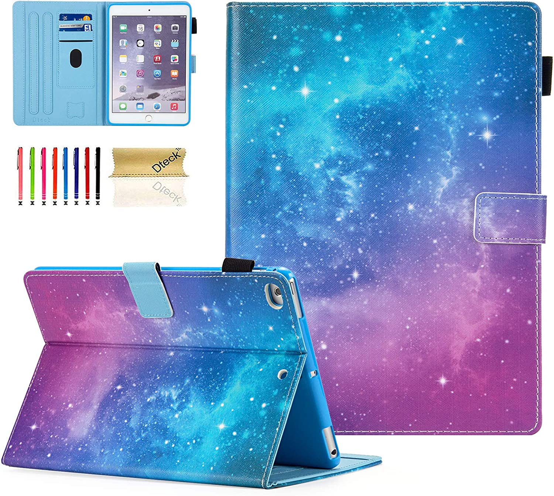 iPad Mini Case, Dteck Slim Fit Smart Premium PU Leather Multiple Viewing Folio Stand Wallet Cover with Auto Wake/Sleep for Apple iPad Mini 2/Mini 3/Mini 4/Mini 5, Galaxy