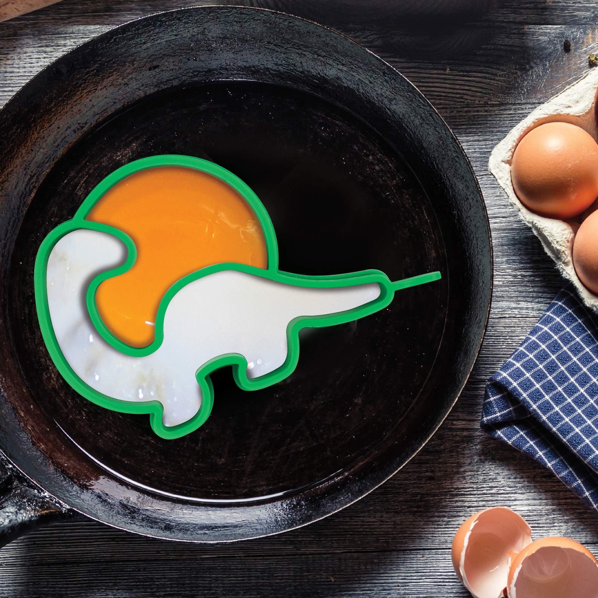Funwares Eggosaurus Egg Shaper, Silicone, Dinosaur Egg & Pancake Mold