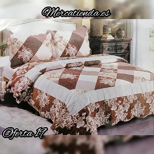 Mercatienda.es Colcha Bouti Tacto algodón para Cama de 135 y 150cm con Dos Fundas de 50 x 70 cm de Regalo.: Amazon.es: Hogar