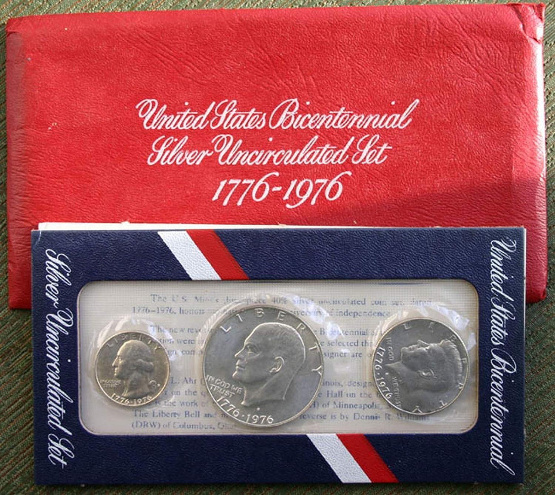 1976 U.S Bicentennial 3-Coin Silver Proof Set