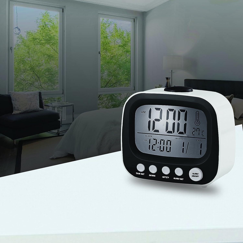 Amazon.com: Coby CBC-52-WHT Retro LCD Alarm Clock (White): Home Audio & Theater