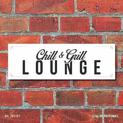 Cartel Chill & Grill Lounge Barbecue barbacoas Decoración Regalo Cumpleaños – 30 ...