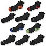 Fruit of the Loom Little Boys' Half Cushion Ankle Socks (10 Pack)