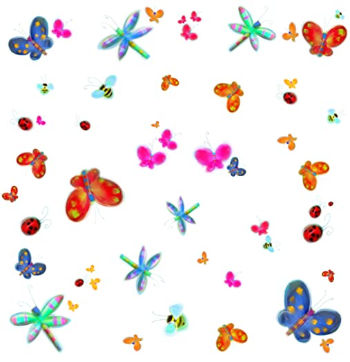 RoomMates Repositionable Childrens Wall Stickers Jelly Butterfly Bugs Part 53