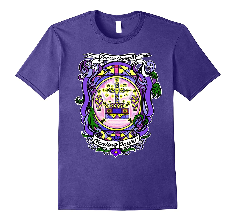 Baron Samedi Healing Power Veve Lwa Voodoo T-shirt-Art