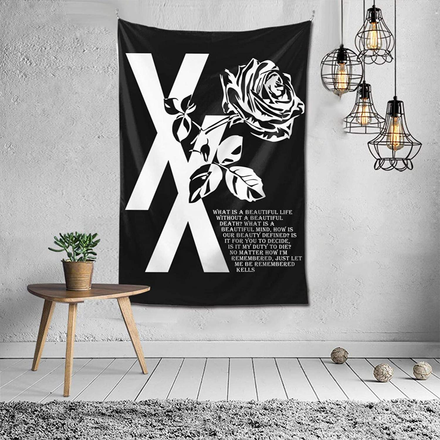Machine Gu-n Kell-y Tapestry MG-K Wall Hanging Tapestries for Bedroom Living Room Dorm Outdoor Decoration 60x40 Inch