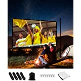 Projector Screen,120 inch 16:9 4K HD Foldable Anti-Crease Portable Projector Movies Screen for Home Theater Outdoor Indoor Su