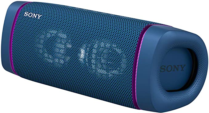 Sony SRS-XB33 EXTRA BASS Wireless Portable Speaker IP67 Waterproof BLUETOOTH 24 Hour Battery and Built In Mic for Phone Calls, Blue