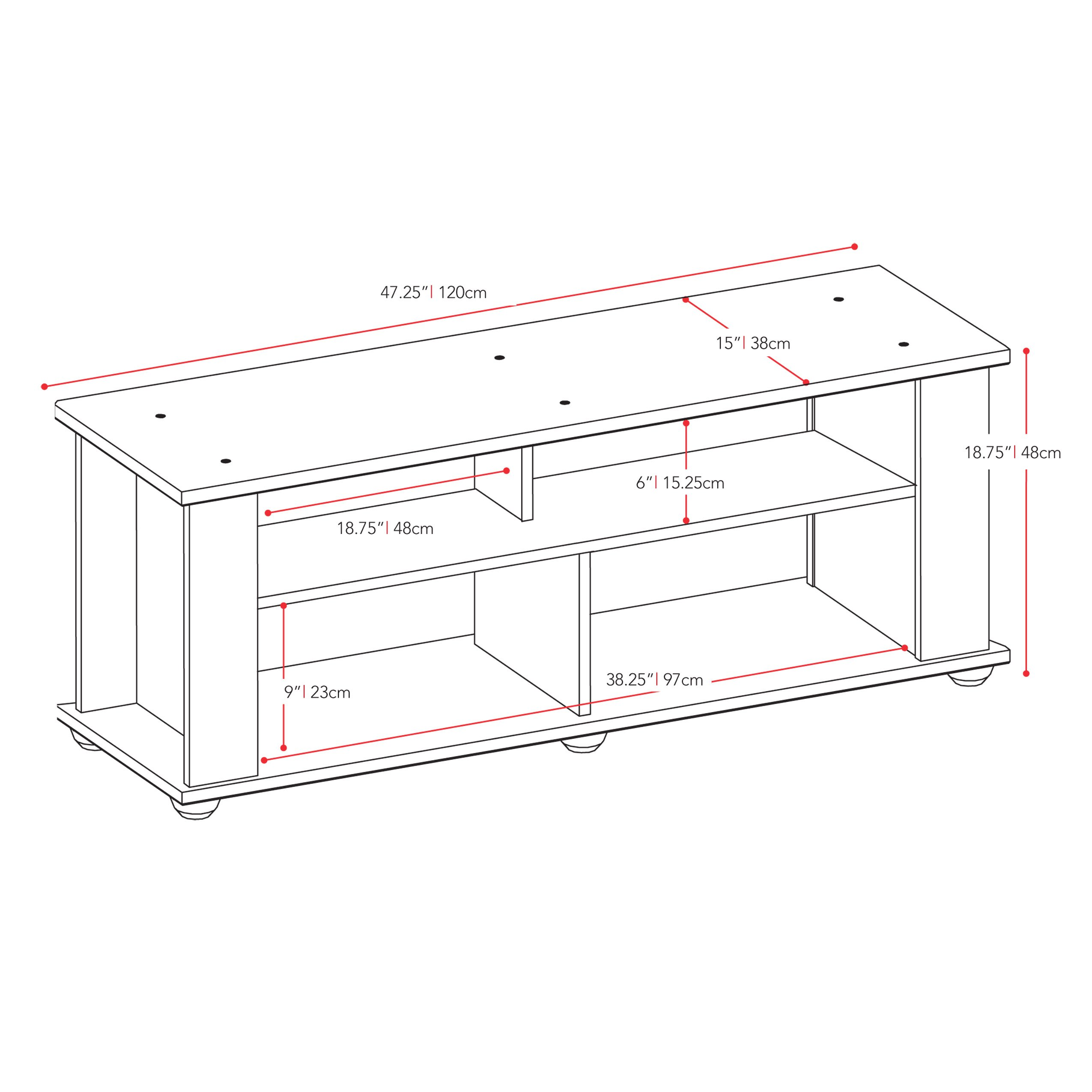 CorLiving TBF-604-B Bakersfield Ravenwood TV/Component Stand, Black by CorLiving (Image #6)