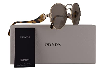 9c621a2a1415e Image Unavailable. Image not available for. Color  Prada PR55TS Sunglasses  Pale Gold Silver ...