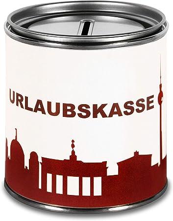 44spaces Hucha Berlín para regalar dinero, para vacaciones – Divertida caja de regalo para cupones de dinero, billetes, dinero, dinero, vacaciones, regalo de boda: Amazon.es: Hogar