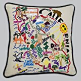 Catstudio Hand-Embroidered Pillow - California