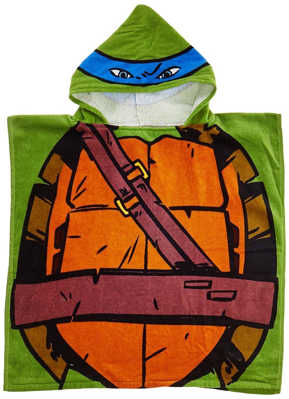 Amazon.com: Nickelodeon Teenage Mutant Ninja Turtles Leonardo Hooded Bath  Towel Poncho: Home & Kitchen