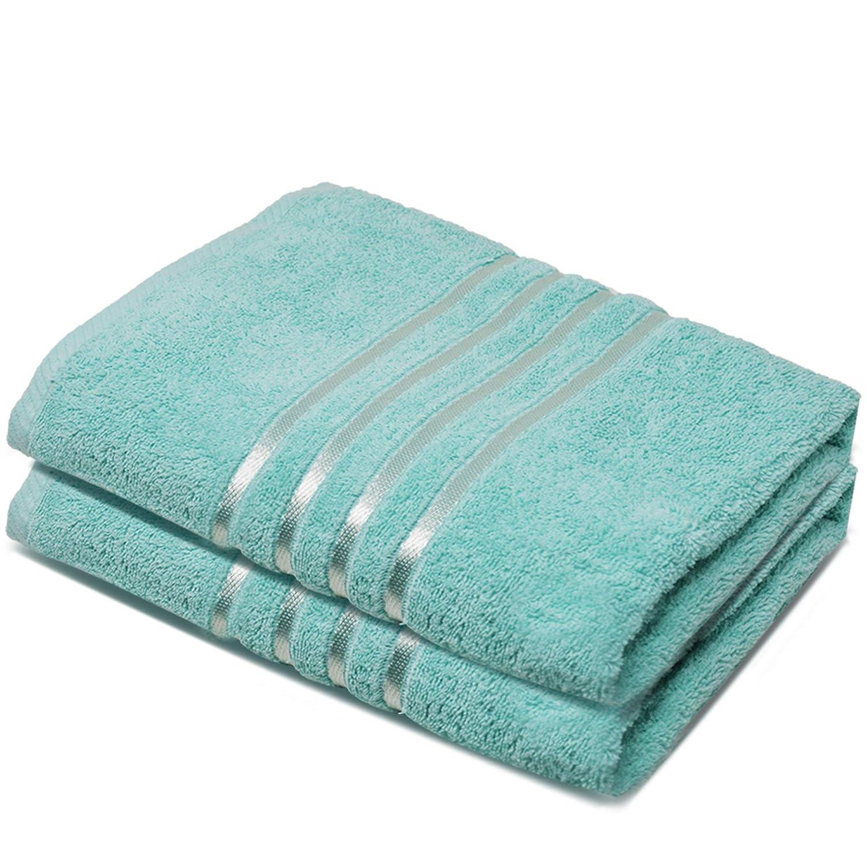 Towelogy Toallas de baño 100% algodón Egipcio orgánico Jumbo Extra Absorbente 500 g/m², algodón, Aguamarina, Pack de ...