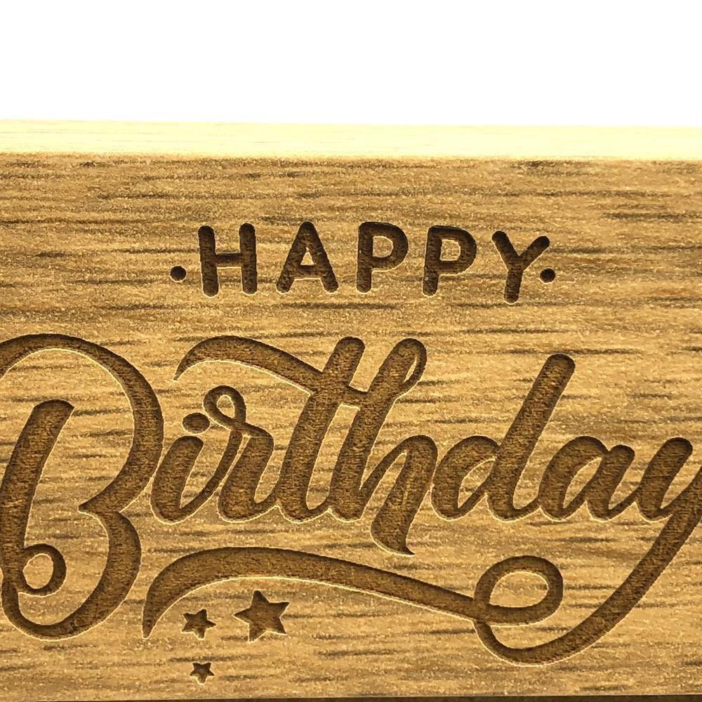 4 x 6 Inch ukgiftstoreonline Happy 70th Birthday Wooden Photo Frame Gift
