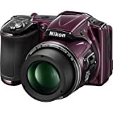 Nikon COOLPIX L830 16 MP CMOS Digital Camera with 34x Zoom NIKKOR Lens and Full 1080p HD Video (Plum)