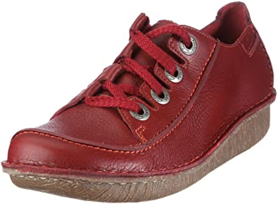 Clarks Funny Story 203367144, Damen Halbschuhe, Rot (Red Leather), EU 36 5a008e2749
